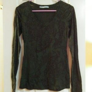 Maurices Long Sleeve Sheer Cotton Top